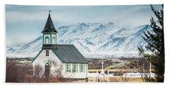 Icelandic Church, Thingvellir Bath Towel