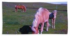 Icelandic Horses Bath Towel