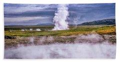 Icelandic Hydrothermal Activity Hand Towel