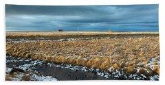 Hand Towel featuring the photograph Icelandic Landscape by Dubi Roman