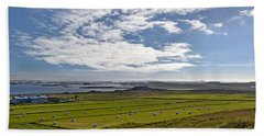 Icelandic Panorama Bath Towel by Joe Bonita