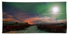 Bath Towel featuring the photograph Iceland's Landscape At Night by Dubi Roman