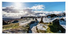 Icey Path In The Peaks Hand Towel