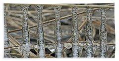 Hand Towel featuring the photograph Icicles On A Stick by Glenn Gordon