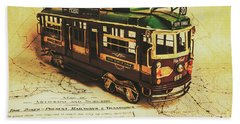 Icon Melbourne Tram Art Hand Towel