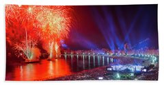 Iconic And Breath-taking Fireworks Display On Copacabana Beach,  Bath Towel