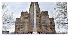 Iconic Buffalo City Hall In Winter Hand Towel