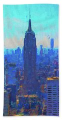 Iconic Empire State Building Hand Towel