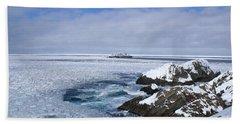 Icy Ocean Slush Hand Towel by Annlynn Ward