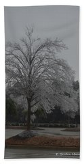 Icy Tree Hand Towel by Gordon Mooneyhan