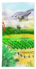 Idaho Vineyard Bath Towel