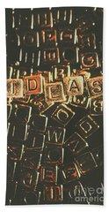 Ideas Letterpress Typography Bath Towel
