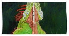 Iguana Dude Hand Towel