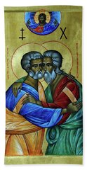 Hand Towel featuring the photograph Ikon Sts. Peter And Andrew by John Schneider