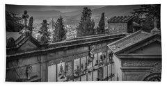 Il Cimitero E Il Duomo Bath Towel by Sonny Marcyan