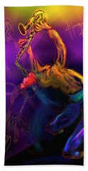 Bath Towel featuring the painting I'll Bend Over Backwards For Your Love by DC Langer