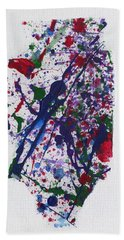 Illinois - Roller Derby Hand Towel