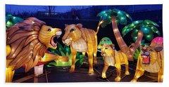 Illuminated Lion Family Hand Towel