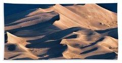 Illuminated Sand Dunes Hand Towel by Alana Thrower