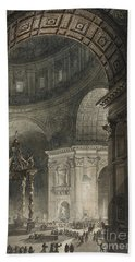 Illumination Of The Cross In St. Peter's On Good Friday, 1787 Bath Towel