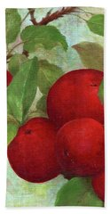 Illustrated Apples Bath Towel