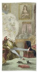 Illustration From Visitation Of A London Exquisite To His Maiden Aunts In The Country Hand Towel
