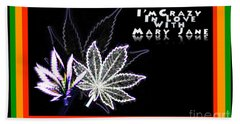 Hand Towel featuring the digital art I'm Crazy In Love With Mary Jane by Jacqueline Lloyd
