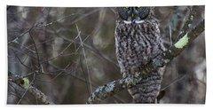 I'm Hungry- Great Gray Owl Bath Towel