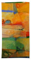 Bath Towel featuring the painting I'm In Corn  by Cliff Spohn