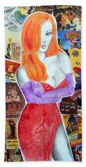 I'm Just Drawn That Way --v.2 -- Jessica Rabbit Portrait Hand Towel