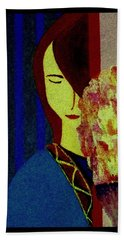 Hand Towel featuring the painting I'm Still Here by Bill OConnor