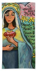 Immaculate Heart Of Mary Bath Towel