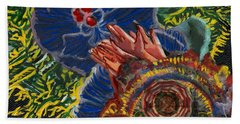 Immunity Activation Microbiology Landscapes Series Hand Towel by Emily McLaughlin