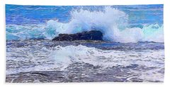 Ocean Impact In Abstract 1 Hand Towel