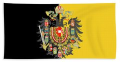 Habsburg Flag With Imperial Coat Of Arms 2 Bath Towel