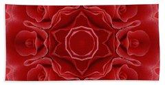 Imperial Red Rose Mandala Hand Towel