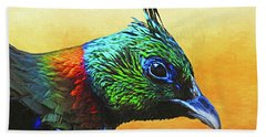 Impeyan Pheasant Bath Towel