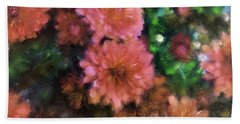 Bronze And Pink Mums Hand Towel