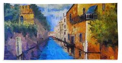 Impressionist D'art At The Canal Hand Towel