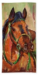 Impressionist Horse Hand Towel by Janet Garcia