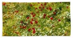 Impressionist Poppies Bath Towel