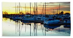 Bath Towel featuring the photograph Impressions Of A San Diego Marina by Glenn McCarthy Art and Photography