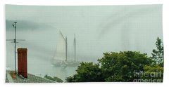 Bath Towel featuring the photograph In A Fog by Christopher Mace