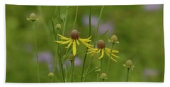 In A Green Meadow Hand Towel by Tim Good