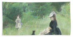 In A Park Hand Towel by Berthe Morisot