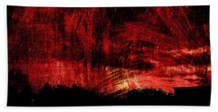 In A Red World Bath Towel