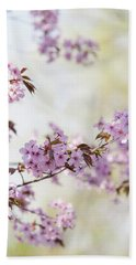 Hand Towel featuring the photograph In Bloom. Spring Watercolors by Jenny Rainbow