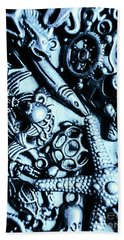 In Blue Nautilus  Hand Towel