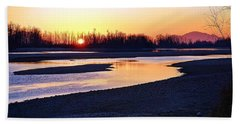 The Fraser River Bath Towel