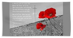 In Flanders Fields Bath Towel